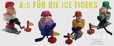 Ferrero  киндер - германия -  8 : 0 Für die Ice - Tigers- 1999 г = 4 шт  --- №  19