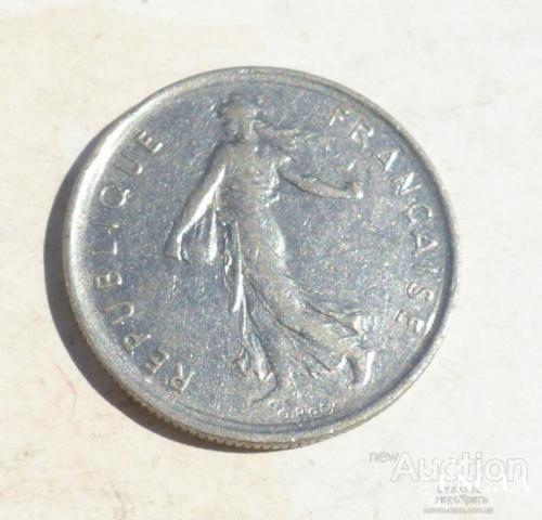 Франция 5 франков 1972 год -