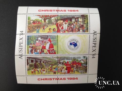 1984, Рождество, Остров Рождества, Австралия, блок, MNH