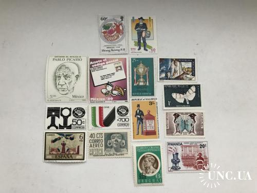 80-е, 15 марок разных стран, MNH