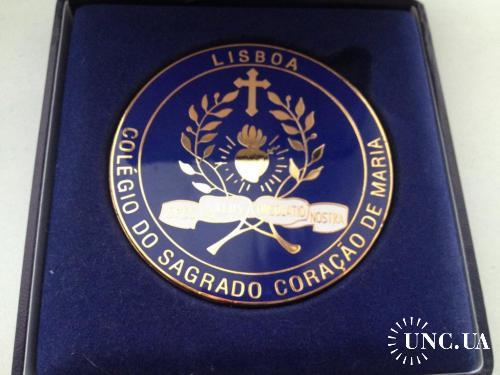 Медаль колледжа Св.Марии, Лиссабон, латунь, эмаль