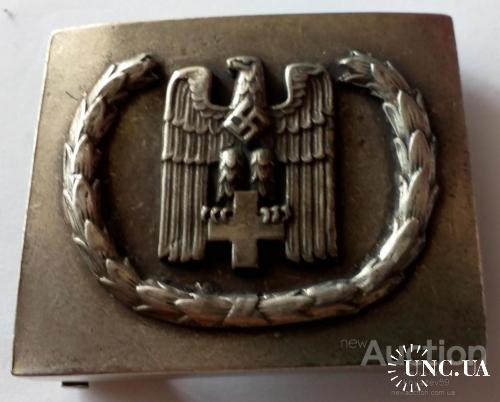 Германия ІІІ РЕЙХ. Стальная Ременная пряжка для рядового состава Немецкого красного креста (DRK)