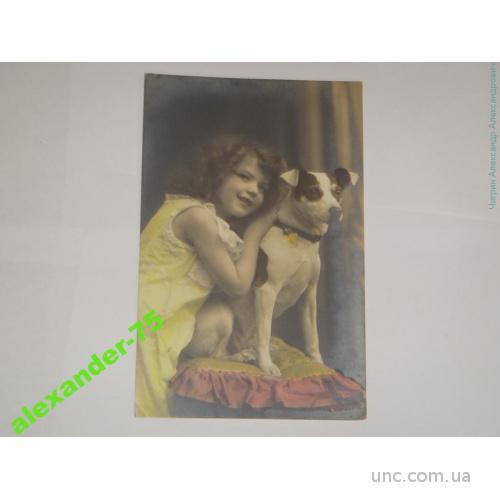 Девочка с  собакой.Собака.