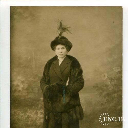 Россия. Статная модная дама. Модная шляпка. Манто. Интеллигенция.