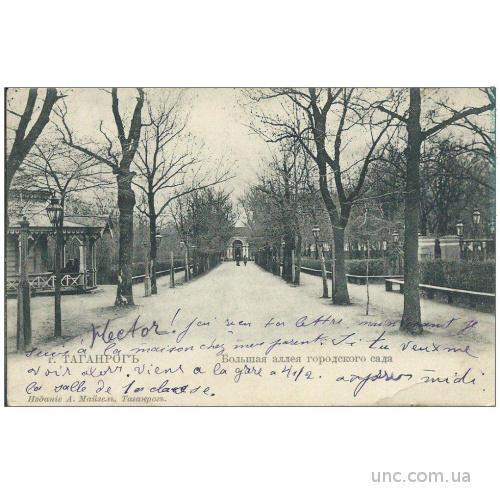 Таганрог. Большая алея городского сада. Майзель.