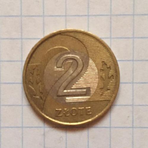 2 злотих, Польща, 1995 р. Бі-метал.