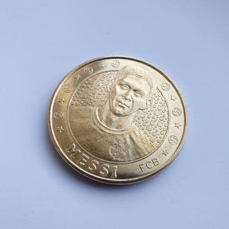 Монета Messi, FCB BARCELONA. Сувенир.