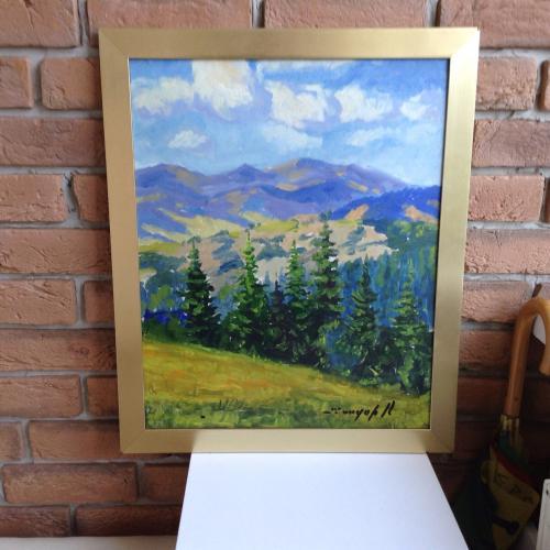 Пейзаж, художник Шандор О. ( член спілки художників Закарпаття ).
