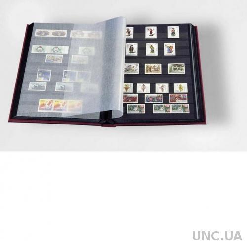 Альбом для марок кляссер с 16 лист из черн КАРТ А4