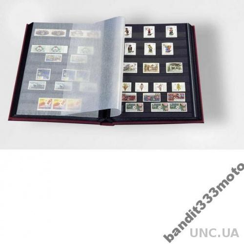 Альбом для марок кляссер с 8 лист из черн кар А4