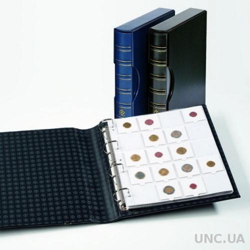 Альбом GRANDE для монет в холдерах на 200 монет, с футляром, синий
