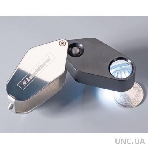 Лупа 10x18 с подсветкой, пластиковый корпус