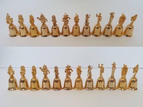Коллекция серия колокольчиков 1987 год США Дисней Белоснежна и 7 гномов позолота