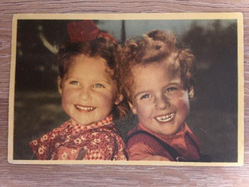 Фотооткрытка. Дети. 1953 г.