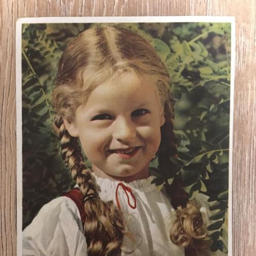 Фотооткрытка. Девочка. 1953 г.