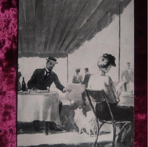 """Лот.  7 -  открыток , иллюстрации. Худ. Кукрыниксы.""""Дама с собачкой"""". 1959г. Москва."""
