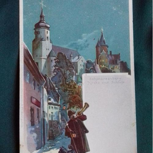 Почтовая открытка дореволюционная (до 1917 г.)Акварель