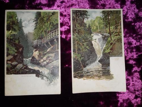 Почтовые открытки.Пейзажи.Акварель. Дореволюционные.