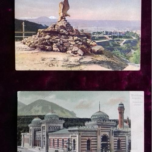Почтовые открытки. Дореволюционные. Достопримечательности  100 лет назад.