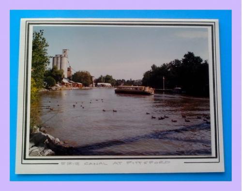 Почтовая  открытка  США «Erie canal at Pittsford».
