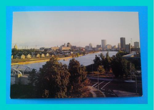 Почтовая  открытка  США  «Rochester, Genesee  River».