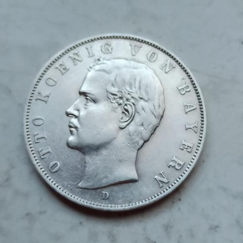 Германия .Бавария 3 марки (mark) 1910 года Отто. Состояние! Оригинал(2)