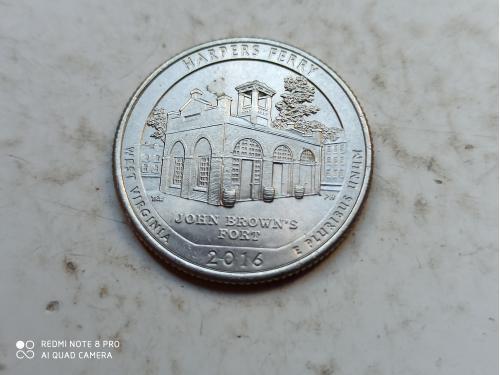 США 25 центов Харперс Ферри P 2016