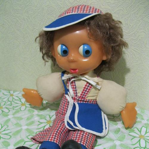 Кукла мягконабивная Антошка СССР 80-ые, московский завод Кругозор