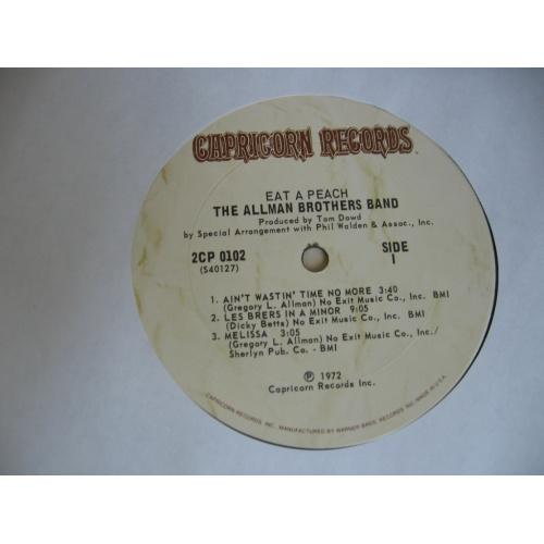 The Allman Brothers Band - Eat A Peach ( USA ) LP