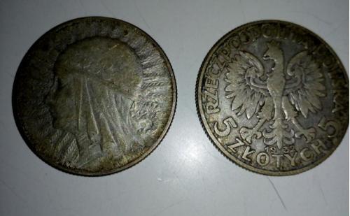 Монета 1932 року 5 zlotych