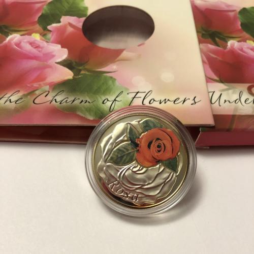 Беларусь, 10 рублей, Серия Красота цветов, Роза, флора, серебро, монета, 2013 г.