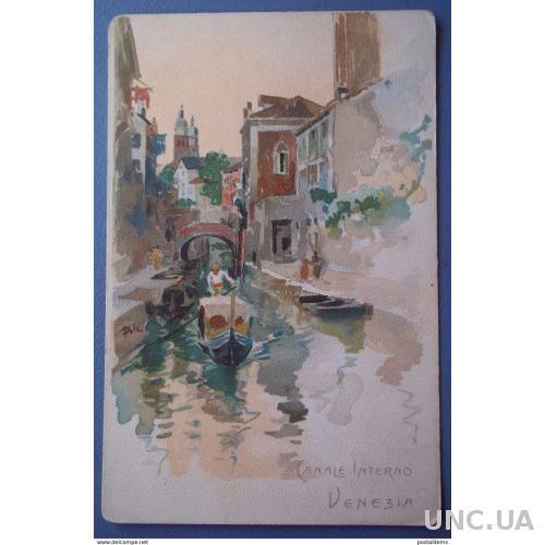 11616 Венеция. Canale Interno. CPA