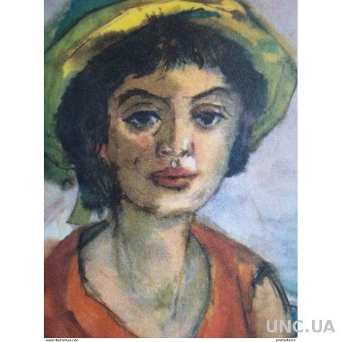 12531 Герхард Стенгель. Девушка с садовым стулом