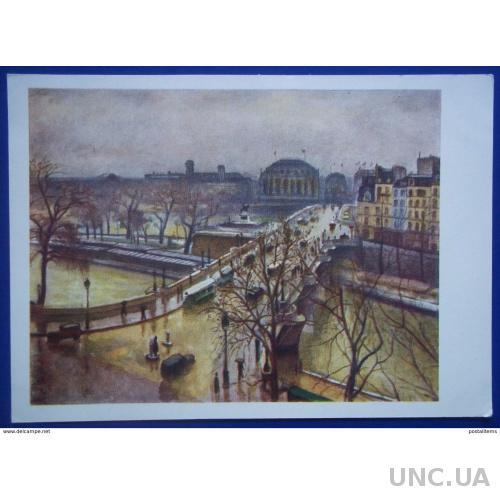 12603 Альберт Марке. Новый мост под дождем. Париж