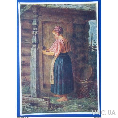 12639 В. Максимов. Девушка в сарае