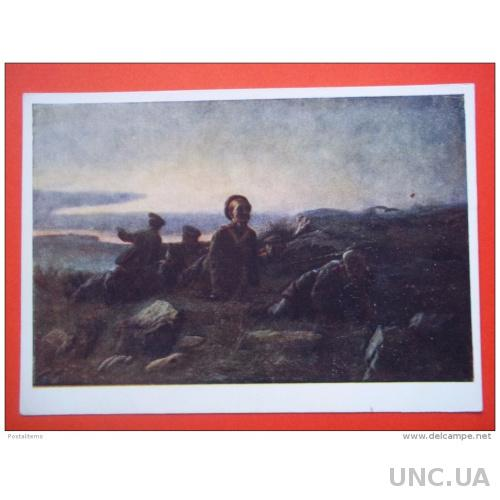 7849 Русский Арт. V.Perov. Разведчики возле Севастополя