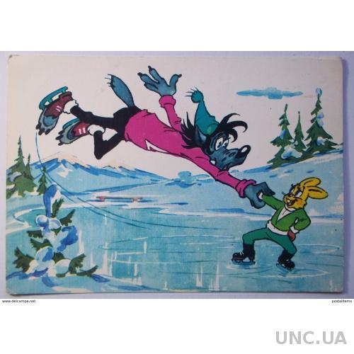 9453 Советский мультфильм «Ну, подожди!» Волк и Заяц