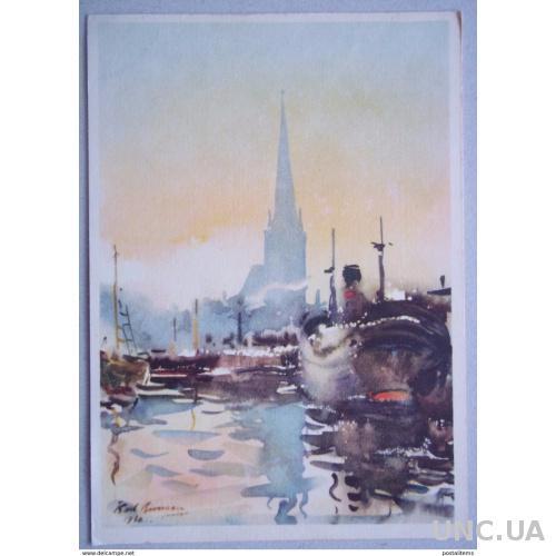 9456 Карл Берман. Таллиннский порт