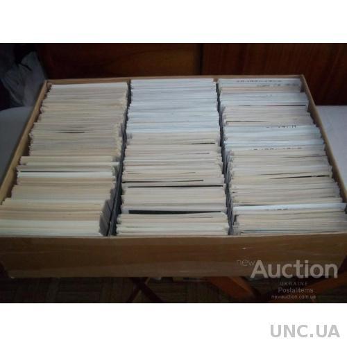 Коробка открыток с антресолей. Живопись СССР. Более 3000 штук. Чистые