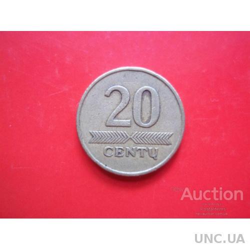 Литва. 20 центов