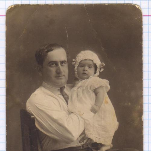 Фото. Визит. Дети. Папа с дочкой. Чепчик. РДЧ