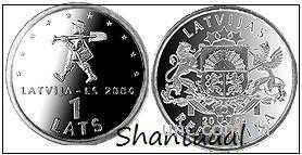 Shantaaal, Латвия 1 лат 2004 год, Мальчик (спридитис)