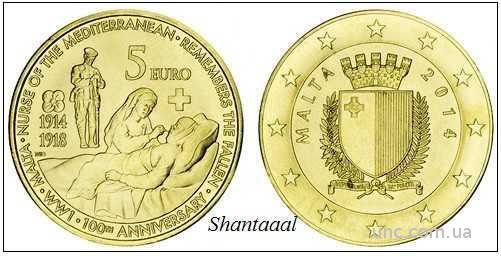 Shantаal, Мальта 5 Евро Первая мировая 2014