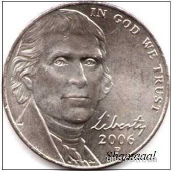 Shantal, 5 центов 2006 Джефферсон, Р