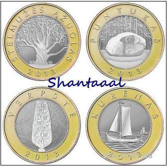 Shantaaal,Литва 2 лита 2013 год, Набор Курорты Литвы, 2я серия
