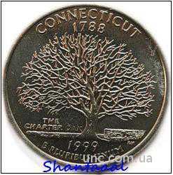 Shantal, 25 центов 1999, Штат США Коннектикут