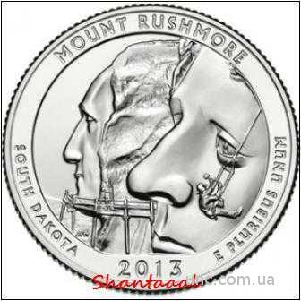 Shantal, 25 центов 2013, 20 Парк США, Гора Рашмор