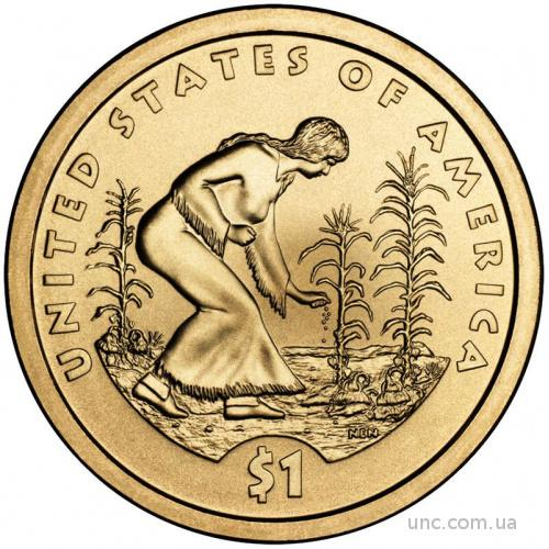 Shantaaal, США 1 доллар 2009, Сакагавея: Индианка