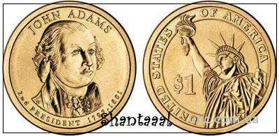 Shantaaal,1 доллар 2007, Джон Адамс, 2 президент США