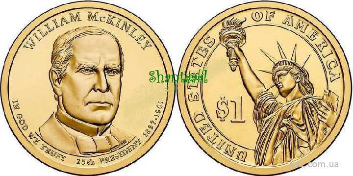 Shantaaal,1 доллар 2013, Мак-Кинли, 25 президент США